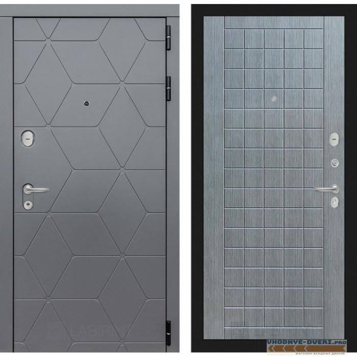 Входная дверь Лабиринт COSMO 09 - Лен сильвер грей