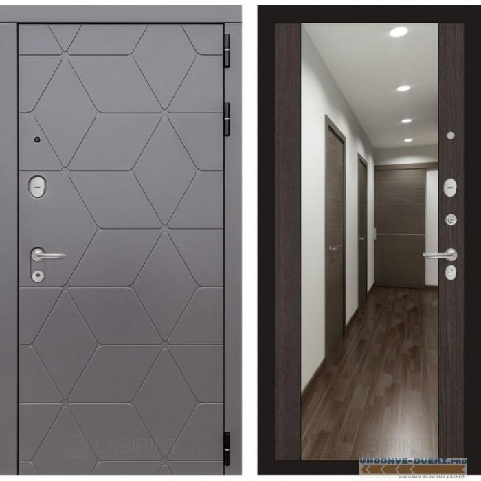 Входная дверь Лабиринт COSMO с зеркалом Максимум - Венге