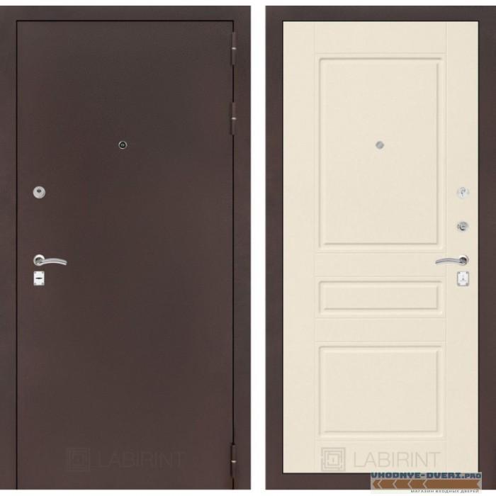 Входная дверь Лабиринт CLASSIC антик медный 03 - Крем софт
