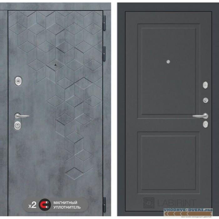 Входная дверь Лабиринт Бетон 11 - Графит софт