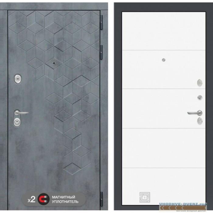 Входная дверь Лабиринт Бетон 13 - Белый софт