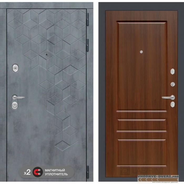 Входная дверь Лабиринт Бетон 03 - Орех бренди