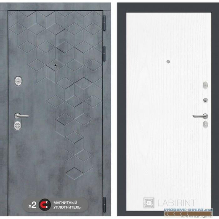 Входная дверь Лабиринт Бетон 07 - Белое дерево