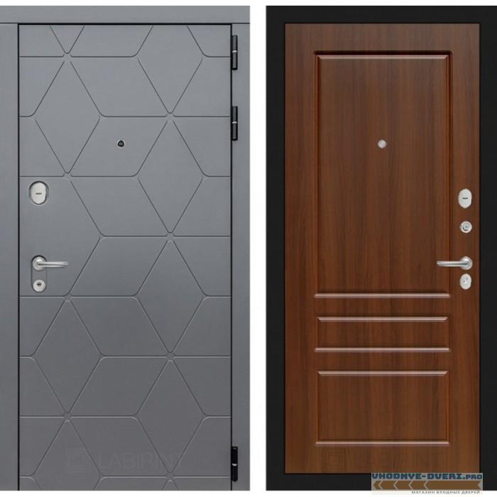 Входная дверь Лабиринт COSMO 03 - Орех бренди