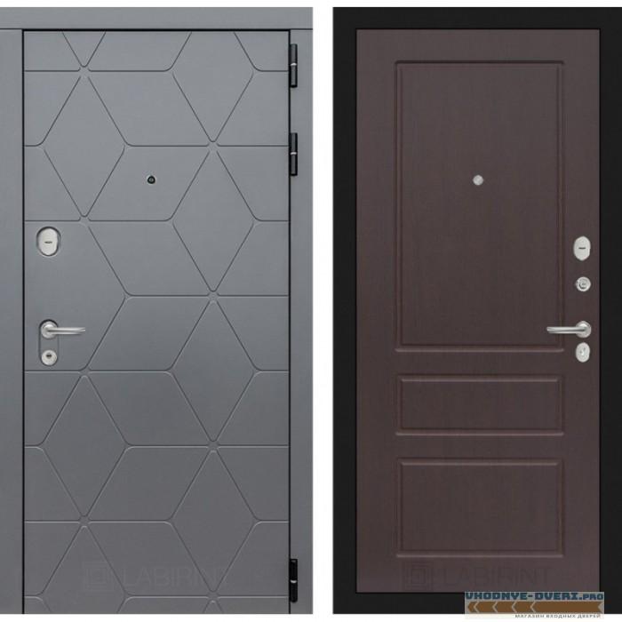 Входная дверь Лабиринт COSMO 03 - Орех премиум