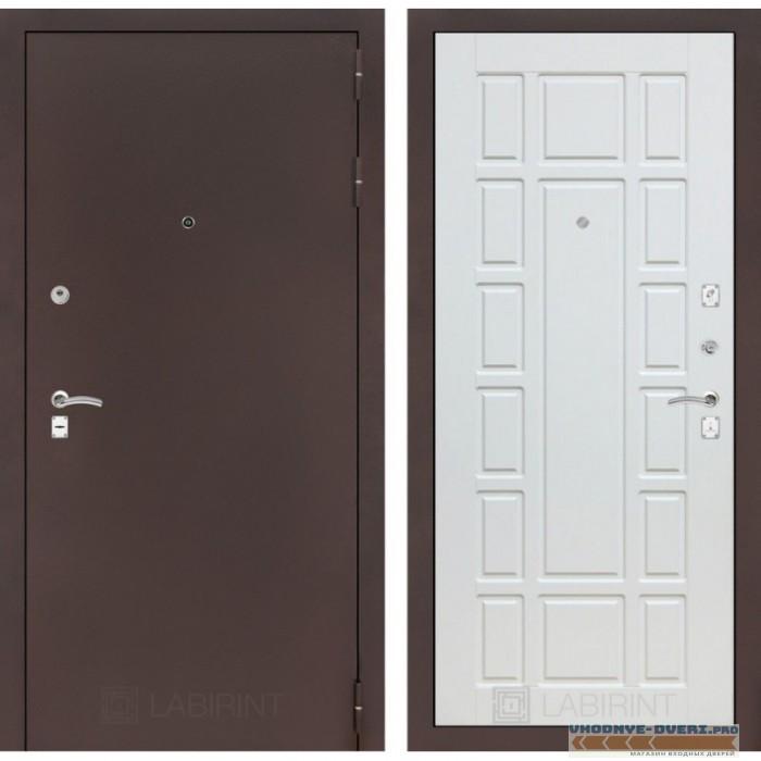 Входная дверь Лабиринт CLASSIC антик медный 12 - Белое дерево