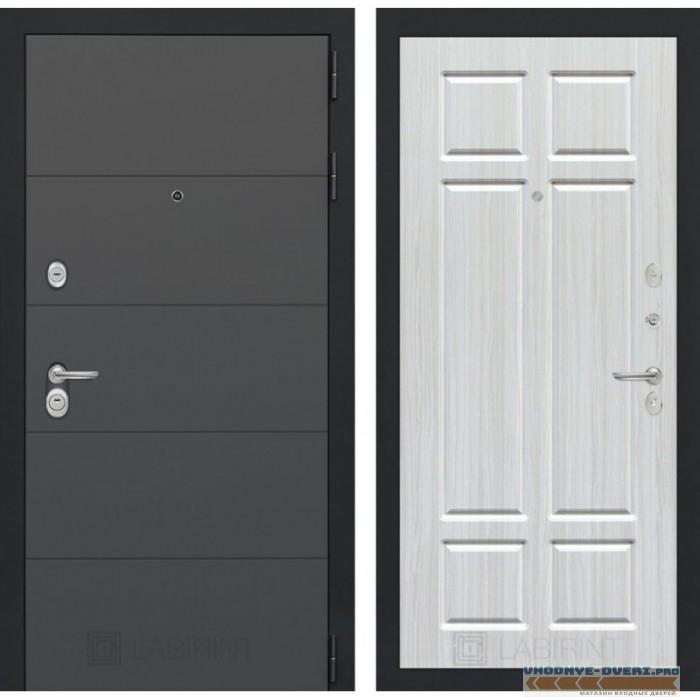 Входная дверь Лабиринт ART графит 08 - Кристалл вуд