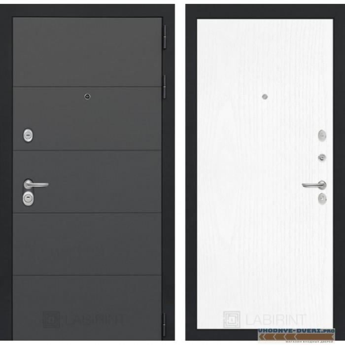 Входная дверь Лабиринт ART графит 07 - Белое дерево