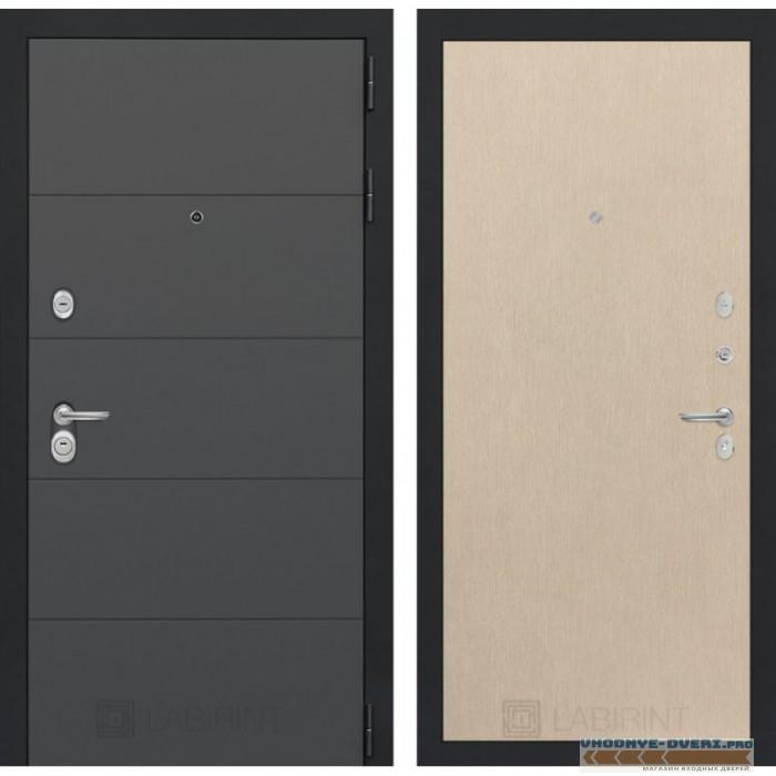 Входная дверь Лабиринт ART графит 05 - Венге светлый