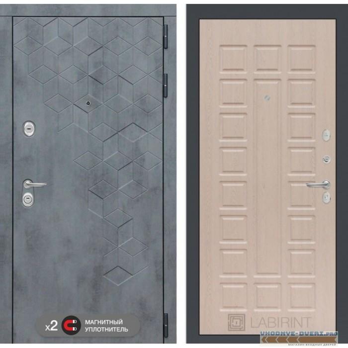 Входная дверь Лабиринт Бетон 04 - Беленый дуб