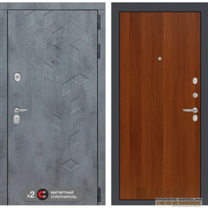 Входная дверь Лабиринт Бетон 05 - Итальянский орех