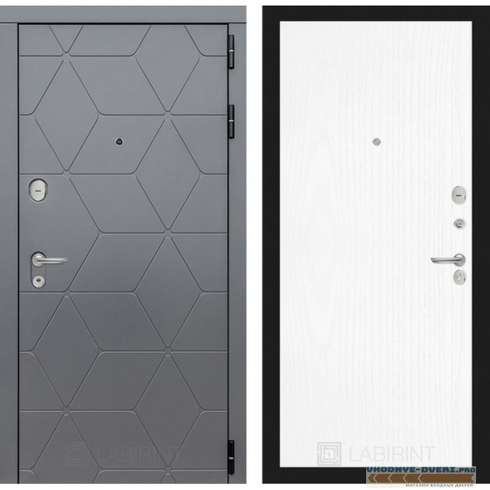 Входная дверь Лабиринт COSMO 07 - Белое дерево