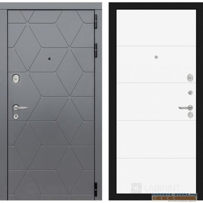 Входная дверь Лабиринт COSMO 13 - Белый софт