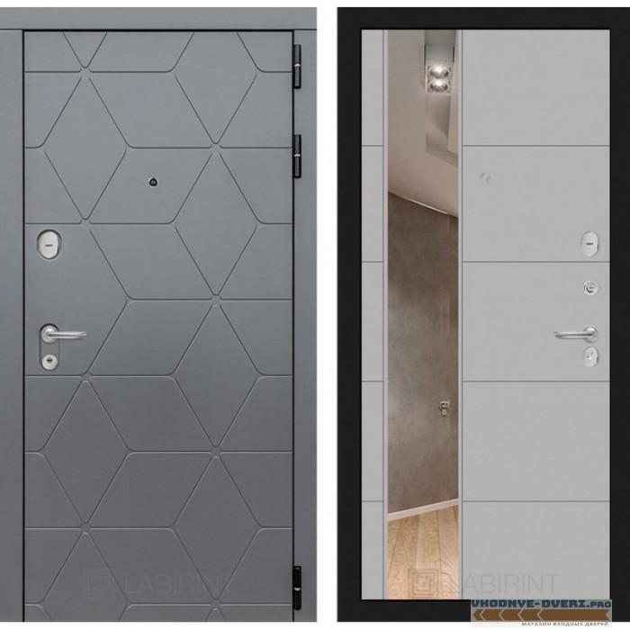 Входная дверь Лабиринт COSMO с зеркалом 19 - Грей софт