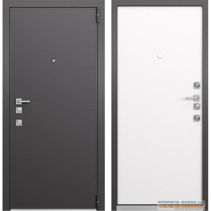 Входная дверь Mastino Forte (Реалвуд графит MS-100 / Реалвуд молочный MS-100)
