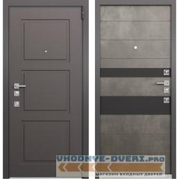 Входная дверь Mastino Forte (Синхропоры модерн MS-104 / Бетон темный MS-118)