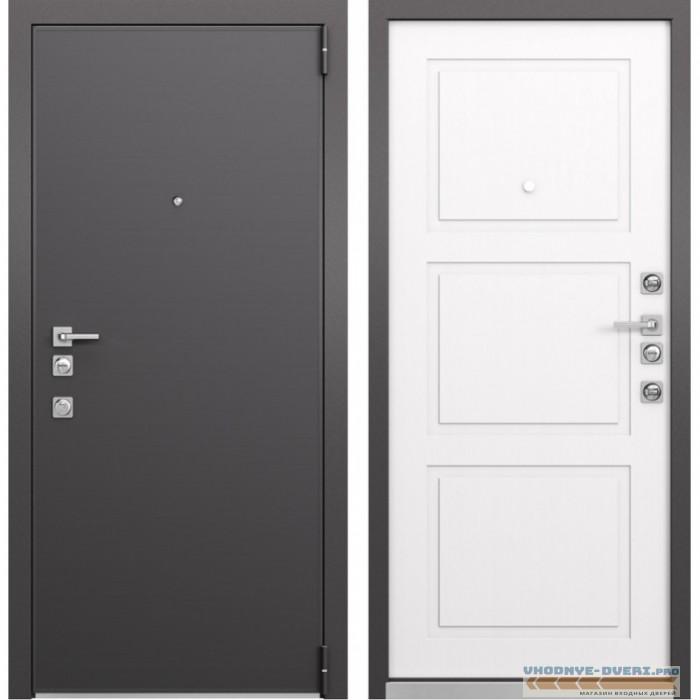 Входная дверь Mastino Forte (Реалвуд графит MS-100 / Синхропоры милк MS-104)
