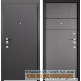 Входная дверь Mastino Forte (Реалвуд графит MS-100 / Cинхропоры титан MS-114)