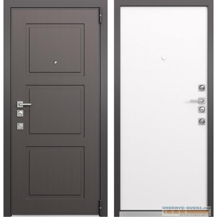 Входная дверь Mastino Forte (Синхропоры модерн MS-104 / Реалвуд молочный MS-100)