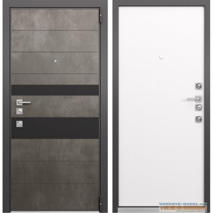 Входная дверь Mastino Forte (Бетон темный MS-118 / Реалвуд молочный MS-100)