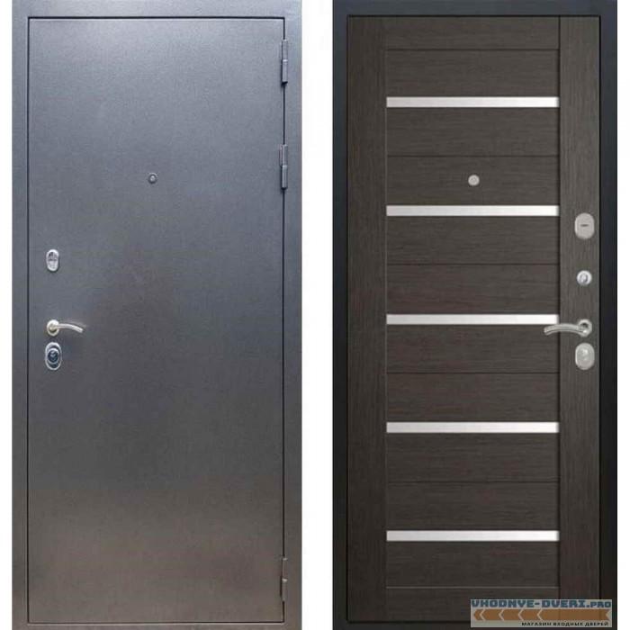 Входная дверь REX 11 Антик серебро СБ-14 Лиственница серая