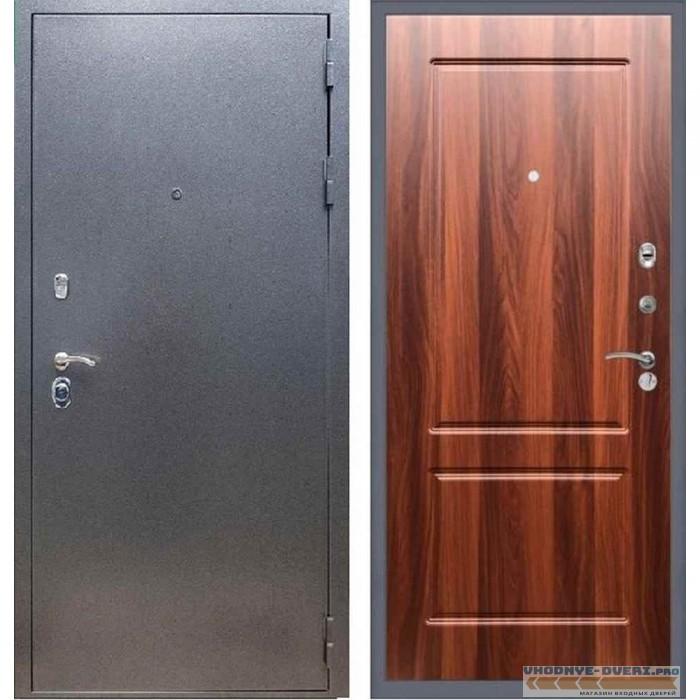 Входная дверь REX 11 Антик серебро ФЛ-117 Орех итальянский