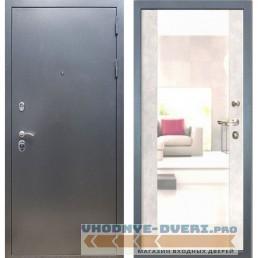 Входная дверь REX 11 Антик серебро Сб -16 Бетон светлый (с зеркалом )