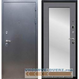 Входная дверь REX 11 Антик серебро Пастораль Графит софт (с зеркалом)