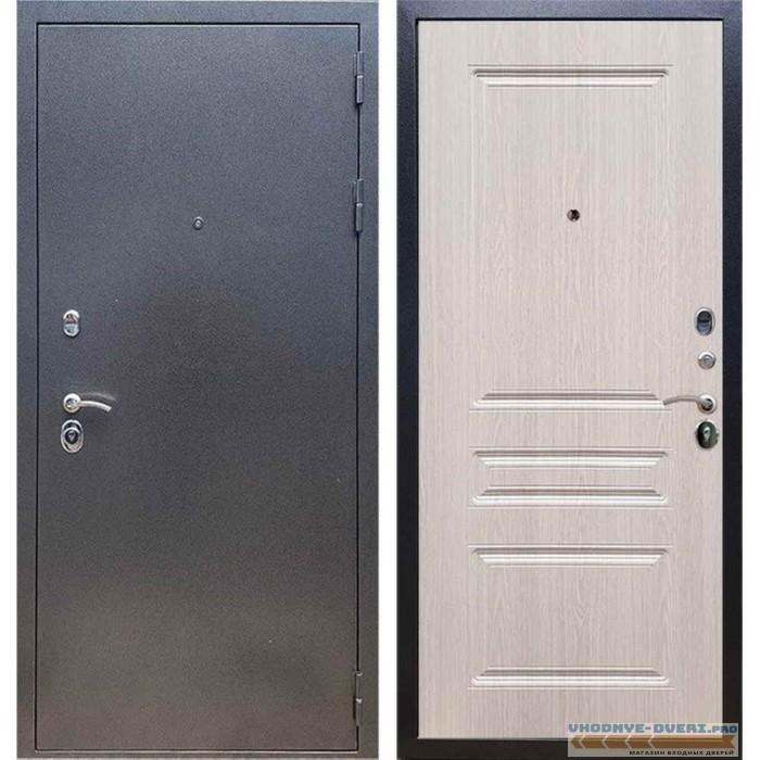 Входная дверь REX 11 Антик серебро ФЛ-243 Беленый дуб