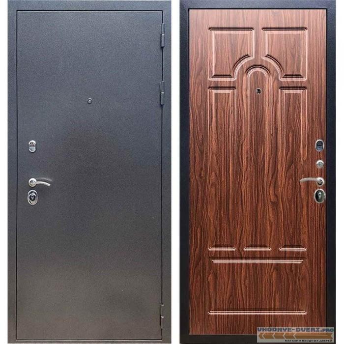 Входная дверь REX 11 Антик серебро ФЛ-58 Орех