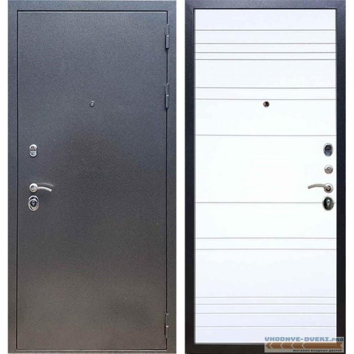 Входная дверь REX 11 Антик серебро ФЛ-14 Силк сноу