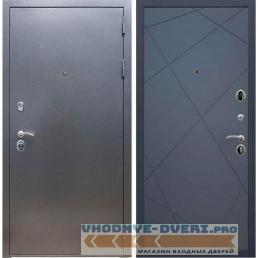 Входная дверь REX 11 Антик серебро ФЛ-291 (Лучи) Силк титан