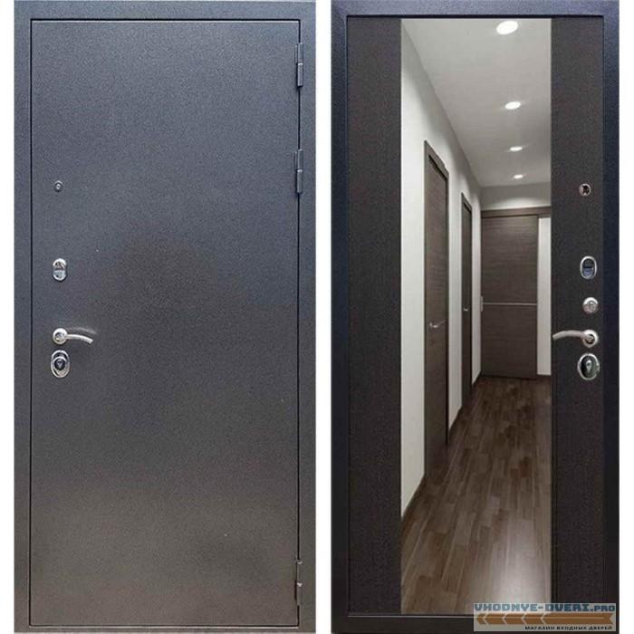 Входная дверь REX 11 Антик серебро СБ-16 Венге (с зеркалом)