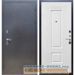 Входная дверь REX 11 Антик серебро ФЛ-2 Силк сноу