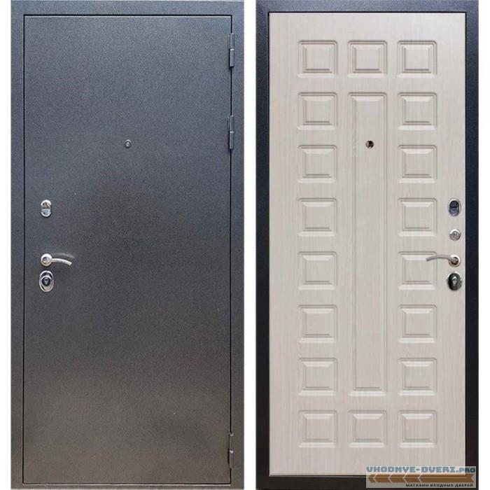 Входная дверь REX 11 Антик серебро ФЛ-183 Сандал белый