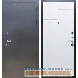 Входная дверь REX 11 Антик серебро ФЛ-246 Силк сноу