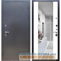 Входная дверь REX 11 Антик серебро СБ-16 Силк сноу (с зеркалом)
