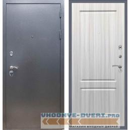 Входная дверь REX 11 Антик серебро ФЛ-117 Сандал белый