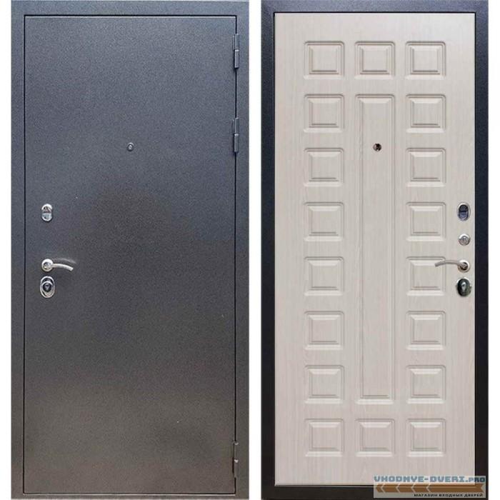 Входная дверь REX 11 Антик серебро ФЛ-183 Беленый дуб
