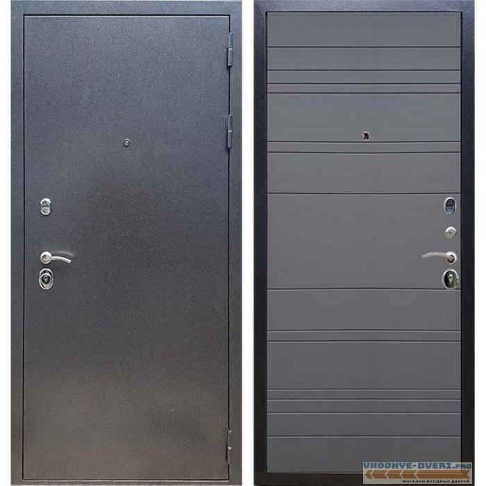 Входная дверь REX 11 Антик серебро ФЛ-14 Титан силк