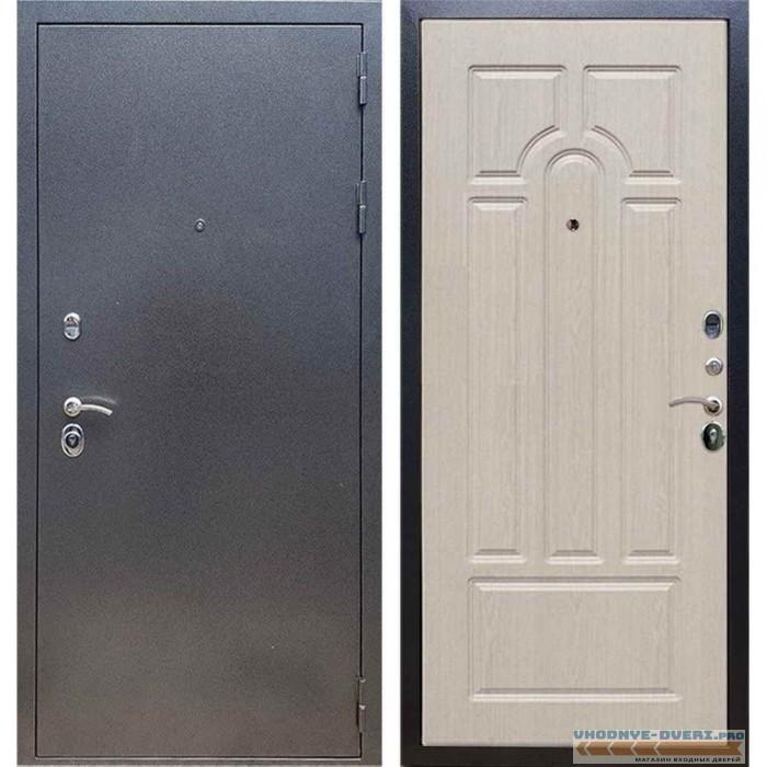 Входная дверь REX 11 Антик серебро ФЛ-58 Беленый дуб