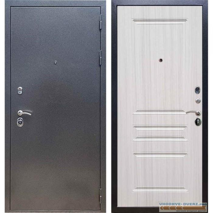 Входная дверь REX 11 Антик серебро ФЛ-243 Сандал белый