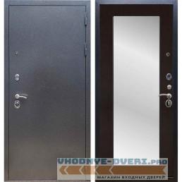 Входная дверь REX 11 Антик серебро Пастораль Венге (с зеркалом)