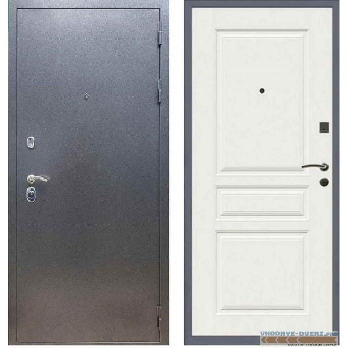 Входная дверь REX 11 Антик серебро ФЛ-243 Силк сноу