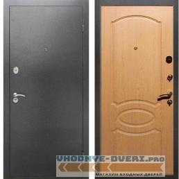 Входная металлическая дверь Рекс 2А Серебро антик ФЛ 128 Дуб