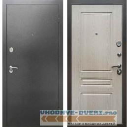 Входная металлическая дверь Рекс 2А Серебро антик ФЛ 243 Беленый дуб
