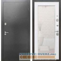 Входная металлическая дверь Рекс 2А Серебро антик Пастораль Силк сноу