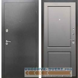 Входная металлическая дверь Рекс 2А Серебро антик ФЛ 117 Грей Софт (Серый светлый)