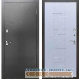 Входная металлическая дверь Рекс 2А Серебро антик ФЛ 289 Белый ясень