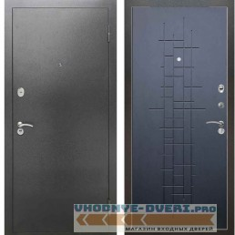 Входная металлическая дверь Рекс 2А Серебро антик ФЛ 289 Ясень черный